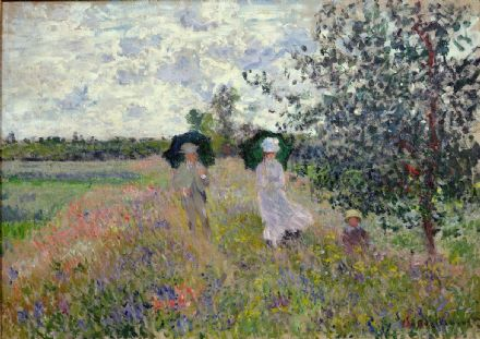 Monet, Claude: Promenade near Argenteuil. Fine Art Print/Poster. Sizes: A4/A3/A2/A1 (003223)